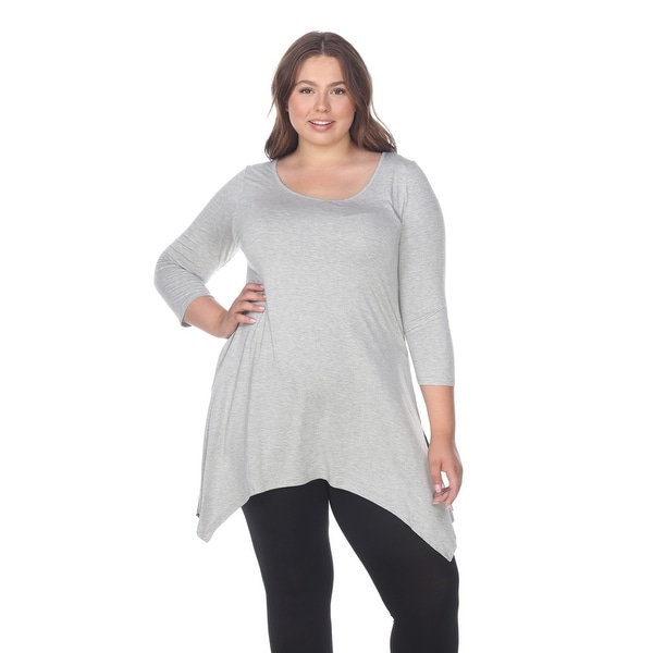 e31be1538c7 Shop Plus Size Makayla Tunic Top - Heather Grey - On Sale - Free ...