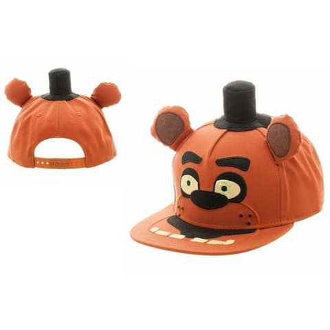 Five Nights At Freddy's Big Face Youth Snapback Hat - Orange