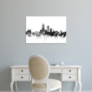 Easy Art Prints Michael Tompsett's 'Lyon France Skyline' Premium Canvas Art