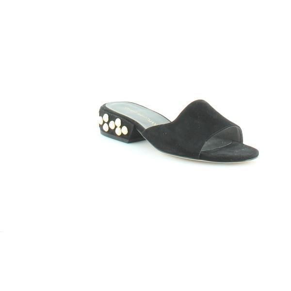 Stuart Weitzman Sliderpearl Women's Sandals Black