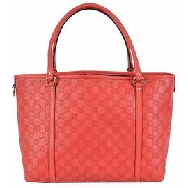NEW Gucci Women's $1,295 265695 Red Leather Guccissima GG Joy Purse Handbag Tote