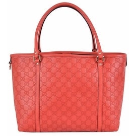 NEW Gucci Women's 265696 Large Red Leather Guccissima GG Joy Purse Handbag Tote