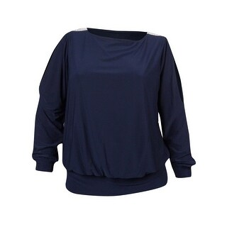 MSK Women's Embellished Cold Shoulder Jersey Bubble Blouse (3 options available)