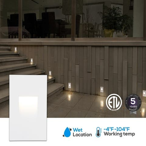 Indoor/Outdoor Stair Light, LED Step Light, 3.5W White