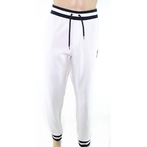 Polo Ralph Lauren Men Pants White Blue Size Large L Jogging Stretch