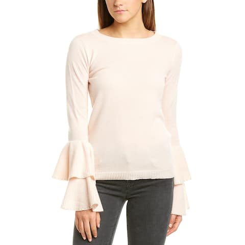 Incashmere Bell Sleeve Cashmere Pullover