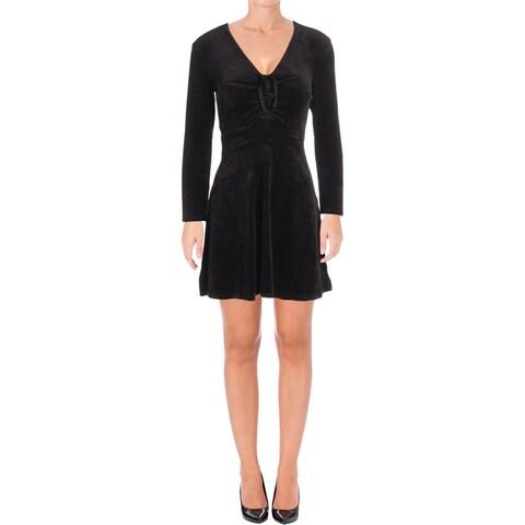 Juicy Couture Black Label Womens Party Dress Velour Mini