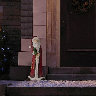 Link to Alpine Corporation Tall Santa Christmas Statue Similar Items in Christmas Decorations