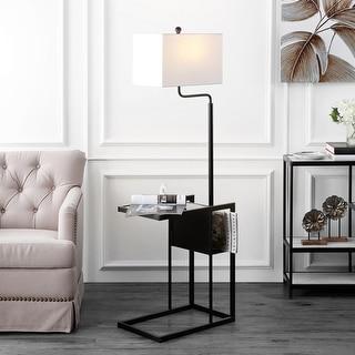"Safavieh Lighting Janson Tray Table 59-inch LED Floor Lamp - 20"" W x 12.8"" L x 59"" H"
