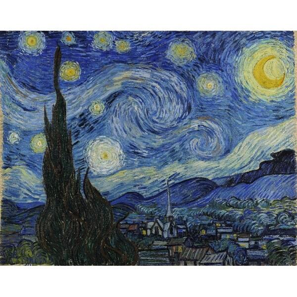 The Starry Night van Gogh 1889 Masterpiece (Acrylic Wall Clock)