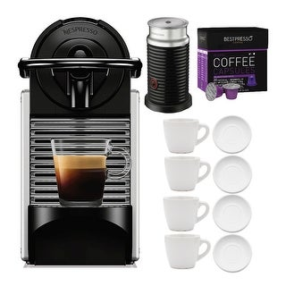 Link to Nespresso Pixie Original Espresso Machine with Cup and Saucers Bundle Similar Items in Kitchen Appliances