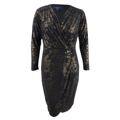 Rachel Rachel Roy Women's Foil Print Wrap Dress