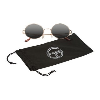 Gravity Shades Circular Frame Paisley Bridge Sunglass, Gold Tint - One size