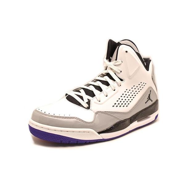 Jordan SC-3 Men Round Toe Leather White Basketball Shoe