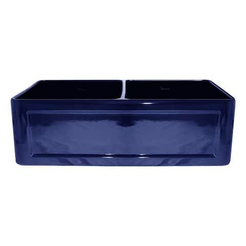 "Whitehaus WHFLCON3318 33"" Dual-Apron Reversible Fireclay Kitchen Sink"