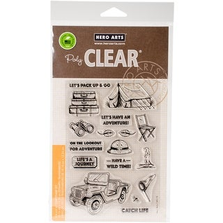 """Hero Arts Clear Stamps 4""""X6""""-Go On A Safari"""