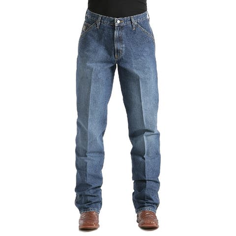 Cinch Western Denim Jeans Mens Blue Label Loose Medium Wash