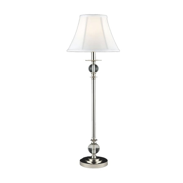 Dale Tiffany GB10196 Tall Crystal Buffet Lamp with Fabric Shade - n/a