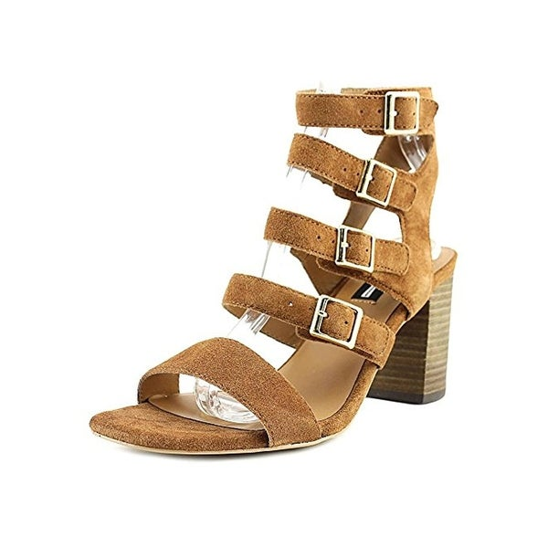 Design Lab Womens Sara Block Heels Solid Strappy