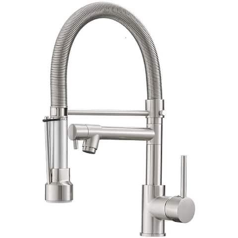 Dense Spring Brushed Kitchen Faucet