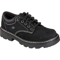 Skechers Women's Parties Mate Black Scuff Resistant Leather