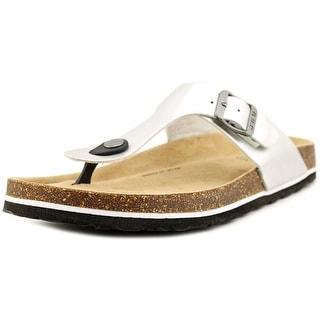 JBU by Jambu Laura Too Women Open Toe Synthetic Silver Thong Sandal