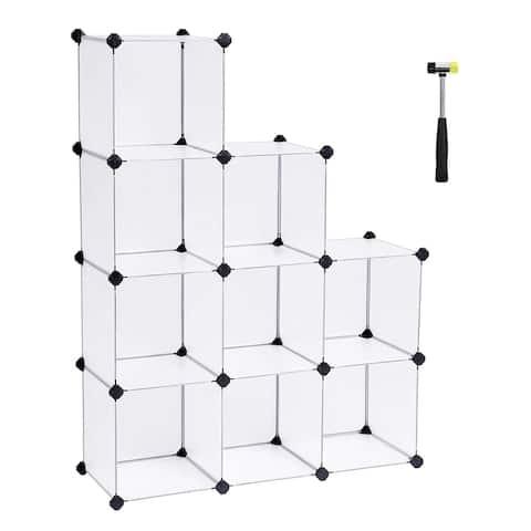 Storage Cube Organizer DIY Closet Cabinet Chests Space-Saving White 9 Cube