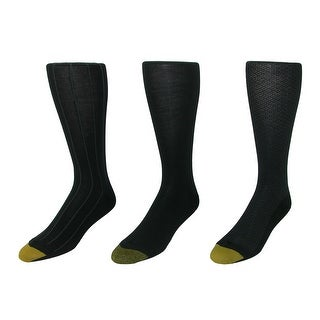 Gold Toe Men's Over the Calf Moisture Control Fashion Socks (Pack of 3), 12 - 16