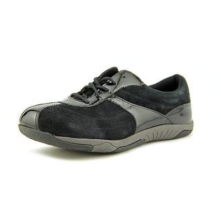 Propet Jodie Women Round Toe Suede Black Sneakers