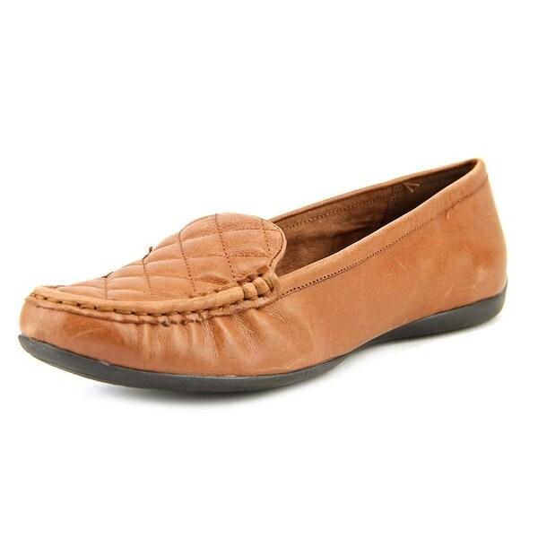 Bella Vita Mercedes Women W Moc Toe Leather Brown Loafer