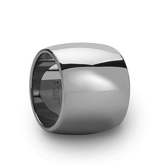 THORSTEN - FRESNO Domed Polished Finish Tungsten Wedding Band - 20 mm