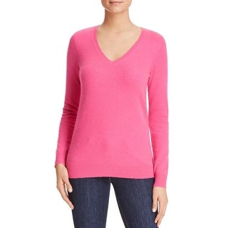 Private Label Womens Pullover Sweater Ribbed Trim V-Neck