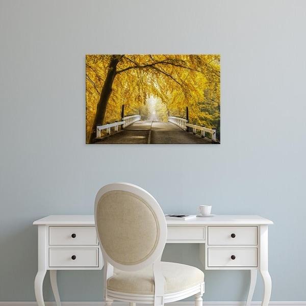 Easy Art Prints Lars Van de Goor's 'Bridge to Fall III' Premium Canvas Art