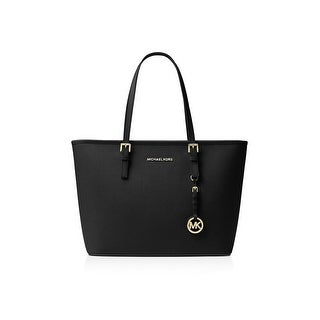 Michael Kors Womens Jet Set Tote Handbag Leather Shopper - Large