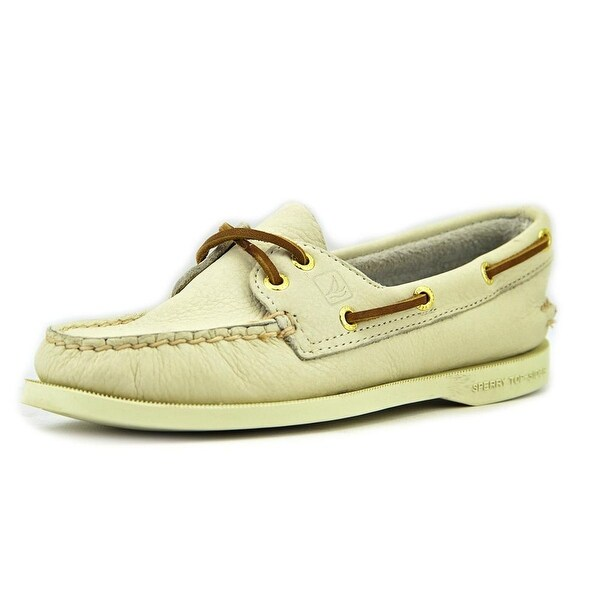 Sperry Top Sider A/O  Women  Moc Toe Leather Ivory Boat Shoe