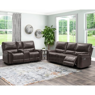 Link to Abbyson Cranbury Power Reclining Sofa and Loveseat Similar Items in Living Room Furniture