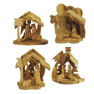 """Pack of 16 Hand Crafted Wooden Christmas Decorative Nativity Figurine 2.56"""""""