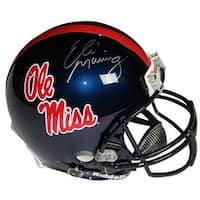 Eli Manning signed Ole Miss Rebels Full Size Authentic Helmet Steiner Hologram