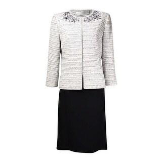 Tahari Women's Norway Nuance Cutout Tweed Skirt Suit