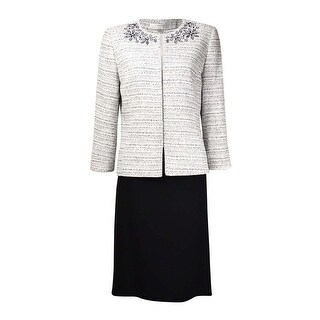 Tahari Women's Norway Nuance Cutout Tweed Skirt Suit