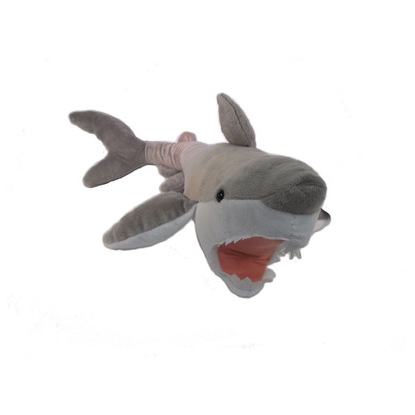 "Wishpets Child Great White Plush Toy 23"" Gray"