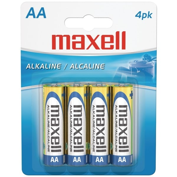 Maxell 723465 - Lr64Bp Alkaline Batteries (Aa; 4 Pk; Carded)