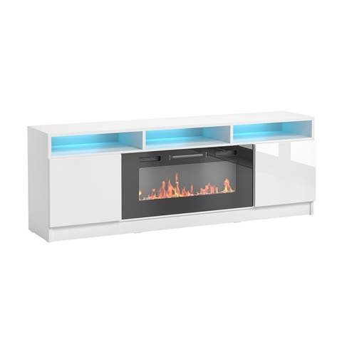 """Reno 05 Electric Fireplace Modern 63"""" TV Stand"""