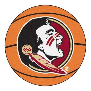 NCAA Florida State University Seminoles Basketball Shaped Mat Area Rug