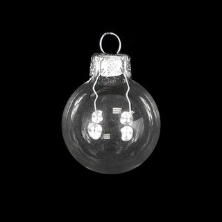"""40ct Shiny Clear Transparent Glass Ball Christmas Ornaments 1.5"""" (40mm)"""
