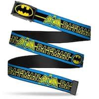 Batman Fcg Black Yellow Chrome Batman Retro Logos Stripe Blue Black Web Belt