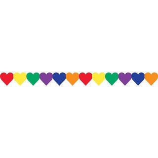 Multi Color Hearts Border