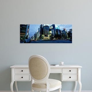 Easy Art Prints Panoramic Images's 'Rush Hour In The City, Ginza, Tokyo, Japan' Premium Canvas Art