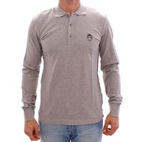 Dolce & Gabbana Gray Long Sleeve Polo Sweater Pullover