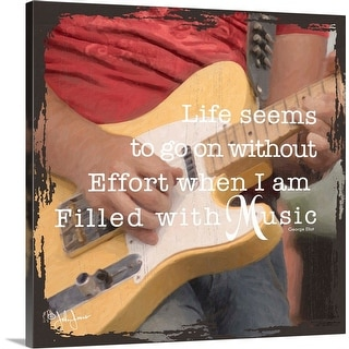 """Filled with Music"" Canvas Wall Art"